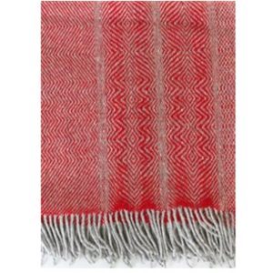 Donegal Red Hand Irish woven blanket